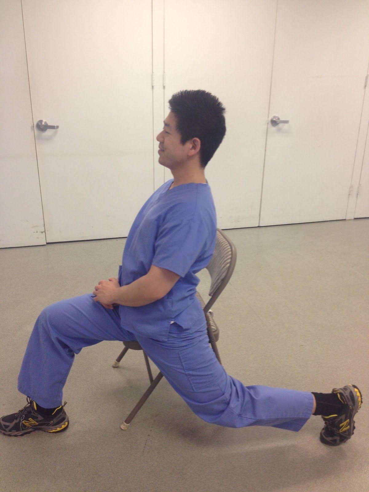 Hip flexor stretch without bending knee hip flexor