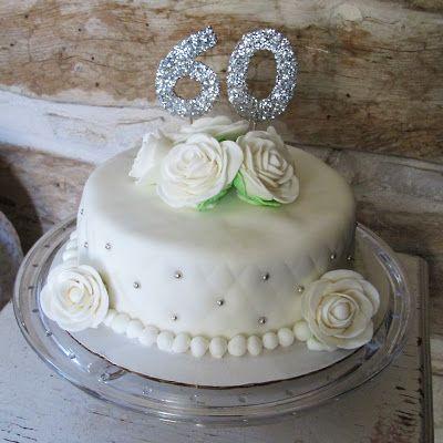 60th Wedding Anniversary Cake Diamond Anniversary Single
