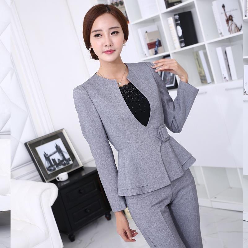Para mujer trajes de negocios 2017 uniforme oficina de for Oficina videos porno
