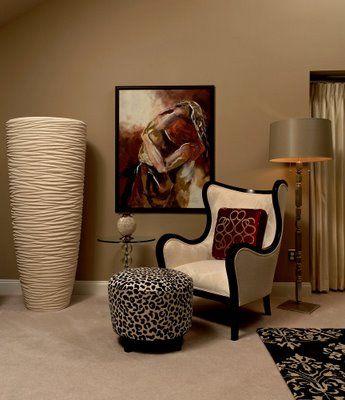 In interior design asymmetrical balance is more subtle than