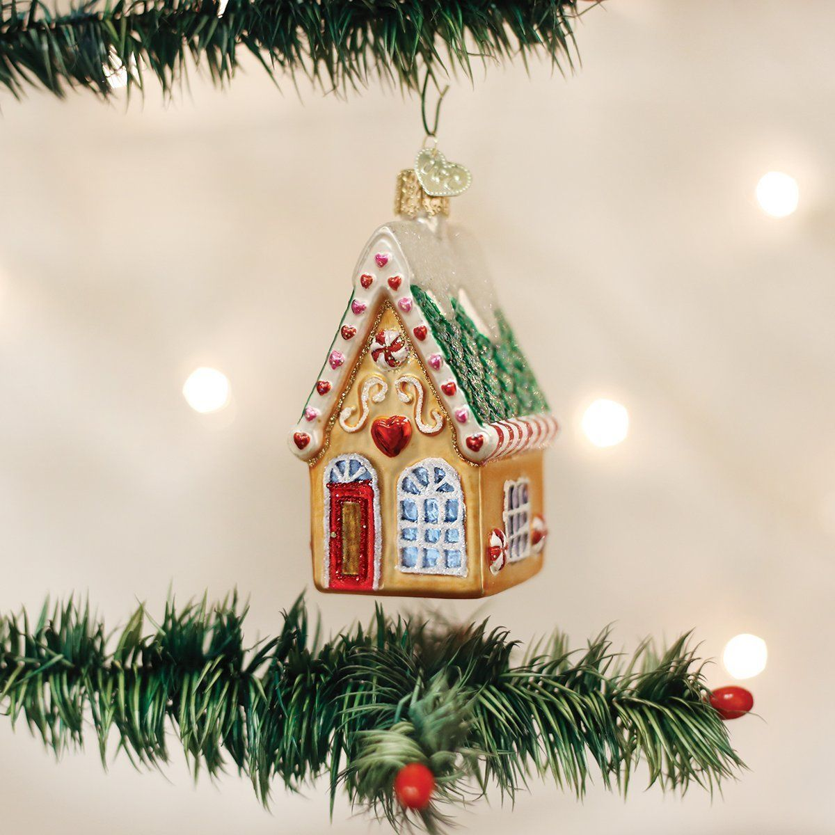 Old World Christmas Cookie Cottage Glass Blown Ornament | One ...