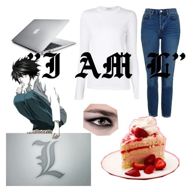 """""""L Lawleit~~Death Note"""" by musiclover1616 on Polyvore featuring T By Alexander Wang and Topshop"""