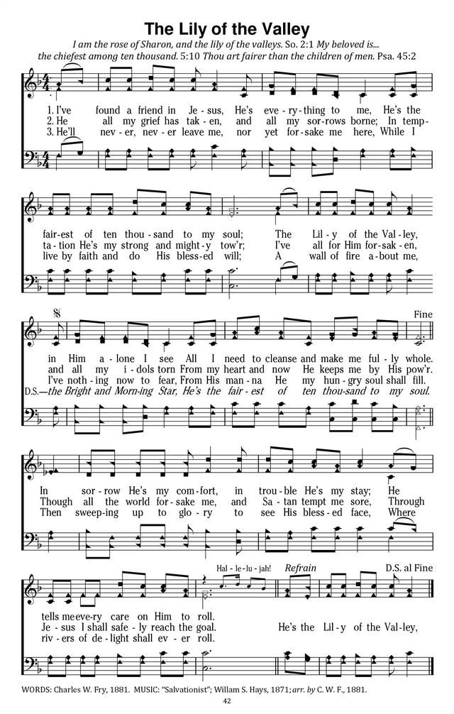 I\'ve Found A Friend In Jesus The Lily of the Valley - Hymnary.org ...