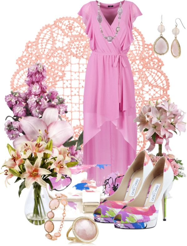 """Flower Bouquet"" by anna-campos ❤ liked on Polyvore"