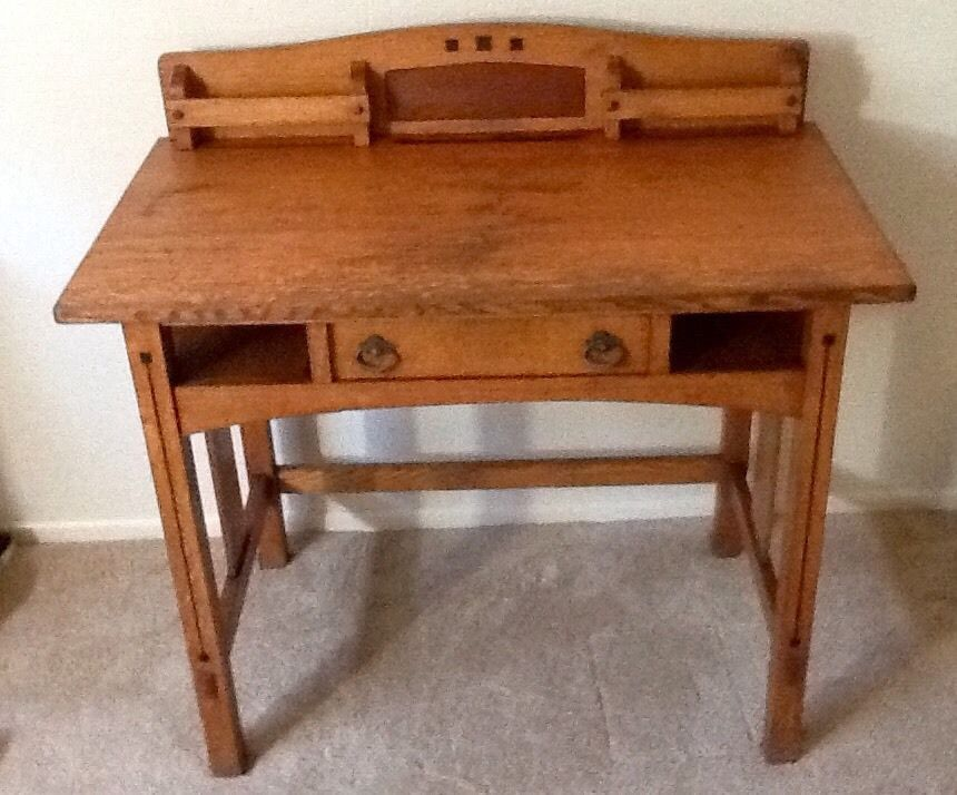 Limbert arts and crafts libary desk desks craft and for Craftsman style desk plans