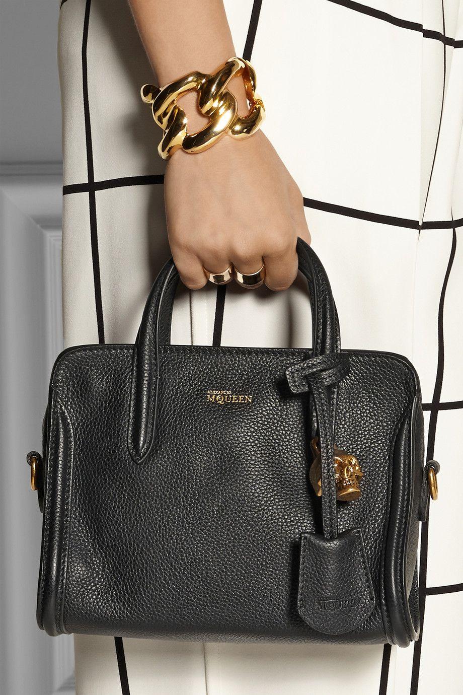 e84828f7c Alexander McQueen | Padlock mini textured-leather tote | Adorn ...