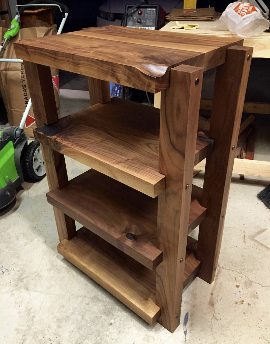 Black Walnut Audio Rack