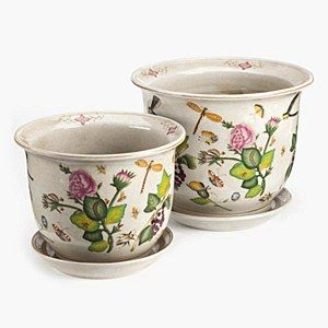 ROSE & INSECT SET 2 PLANTERS