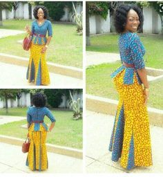 ensemble africain ankara haut et jupe ankara skirt set robe moi pinterest ensemble pagne. Black Bedroom Furniture Sets. Home Design Ideas
