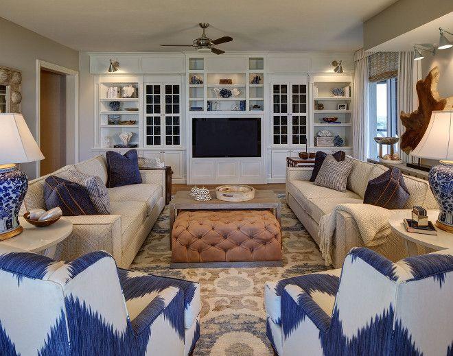 Elegant Florida Condo With Coastal Interiors Coastal Interiors Living Room Furniture Layout Family Room Furniture Layout