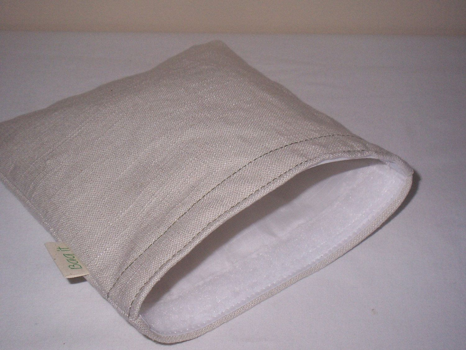 eco friendly plain and simple on natural unbleached cotton...