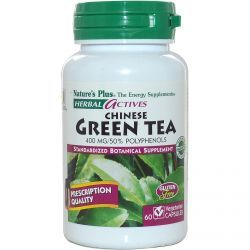 Nature's Plus, Herbal Actives, Chinese Green Tea, 400 Mg, 60 Veggie Caps, Diet Suplements 蛇
