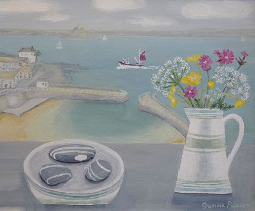 Gemma Pearce Contemporary Artist in Acrylics - Mousehole Cornwall