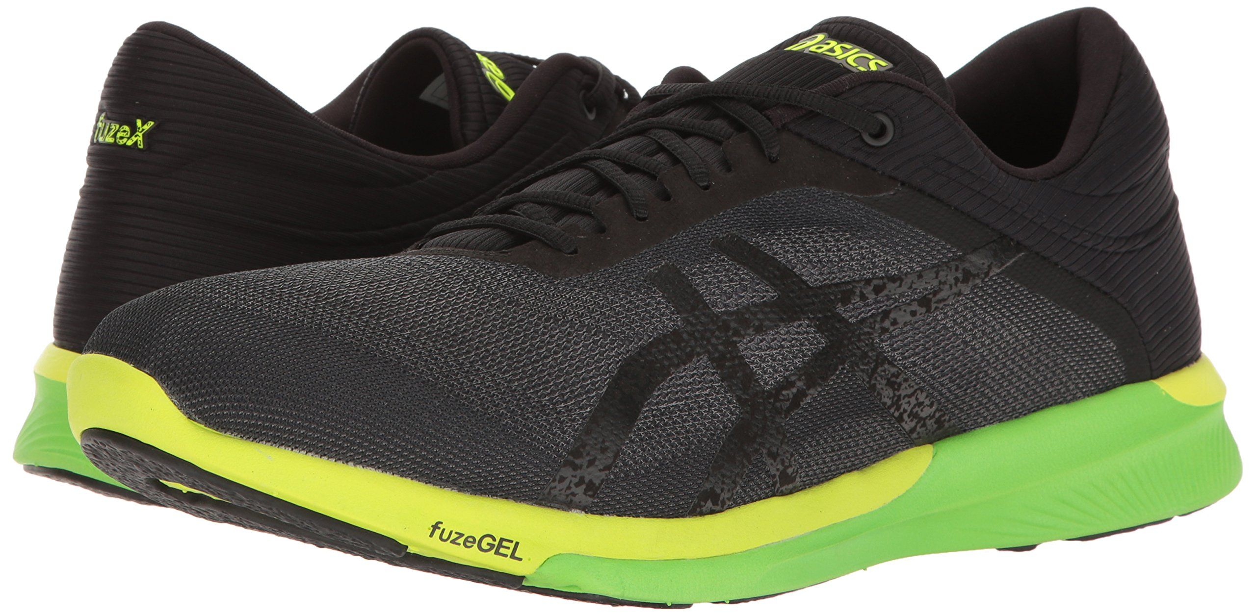 5a02e77cd2c9 ASICS Mens Fuzex Rush Running Shoe Carbon Black Safety Yellow 10.5 M US      Check this awesome product by going to the link at the imag…