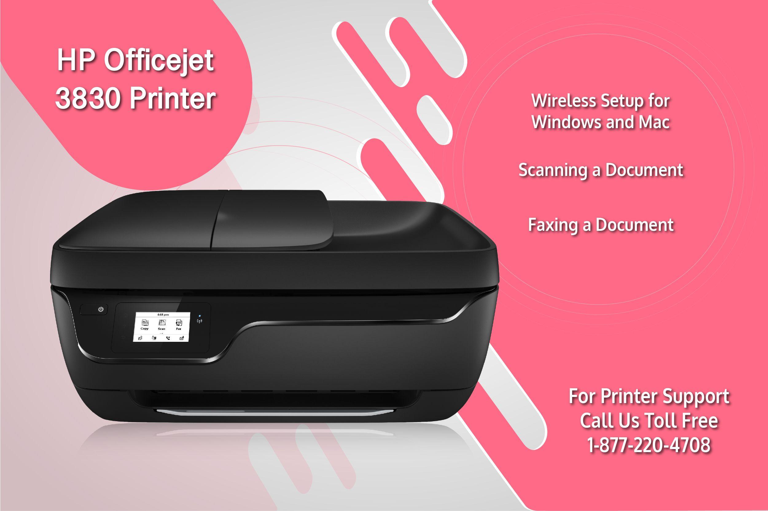 Easy HP Officejet 3830 wireless printer setup for mac