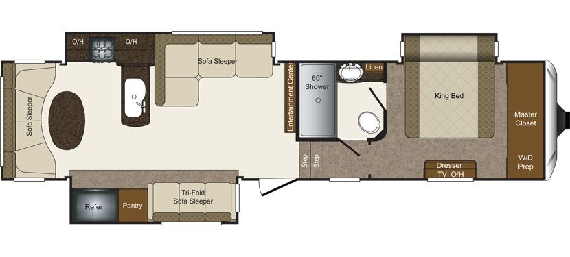 Keystone Rv 346rd New Floorplan Like This Floor Plan No