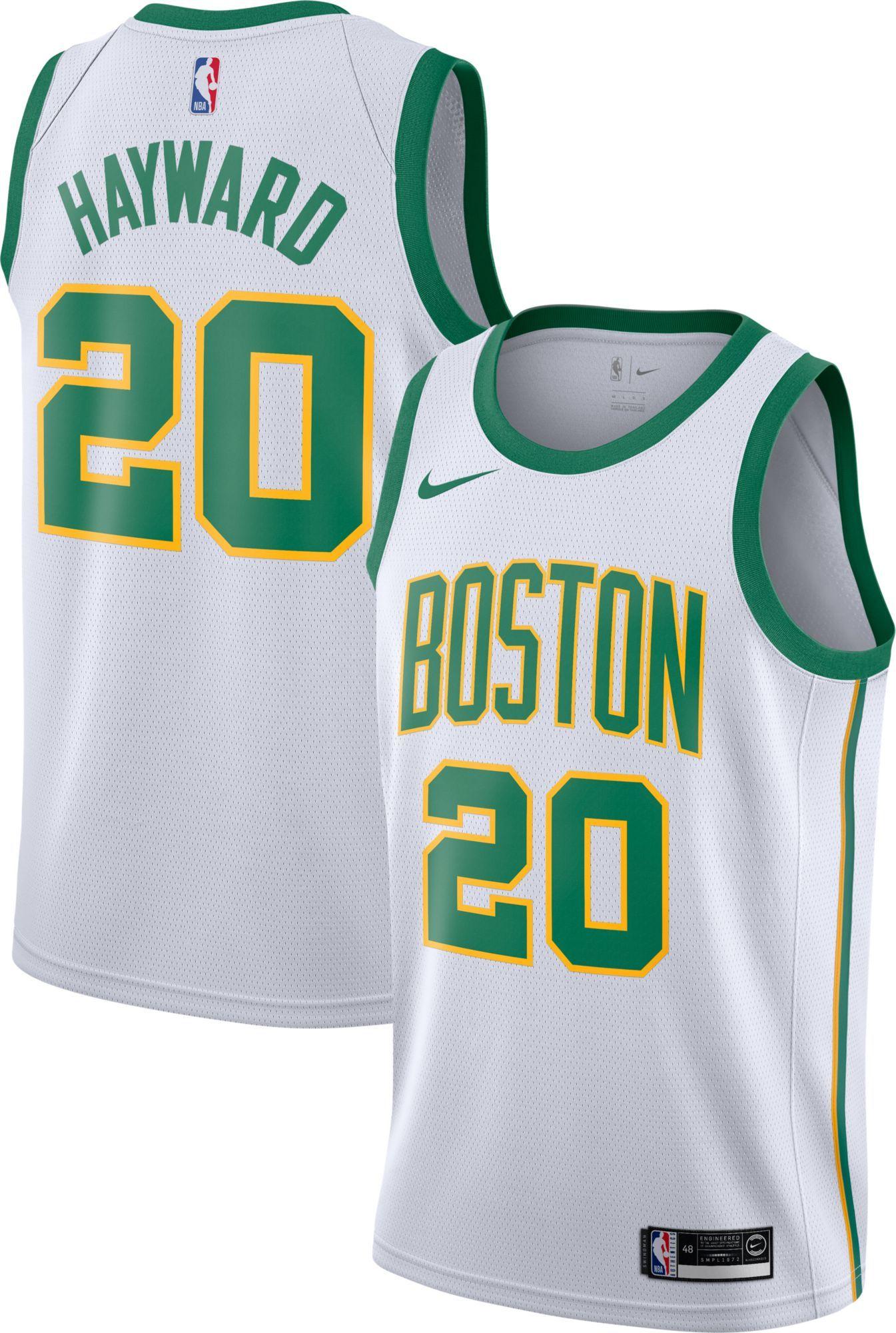 4bad9f37bc1 Nike Men's Boston Celtics Gordon Hayward Dri-FIT City Edition Swingman  Jersey