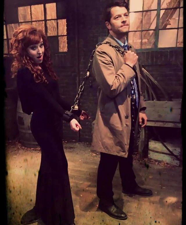 Supernatural Ruth Connell And Misha Collins Photo Via Ruth S Instagram Misha Collins Supernatural Supernatural Fandom