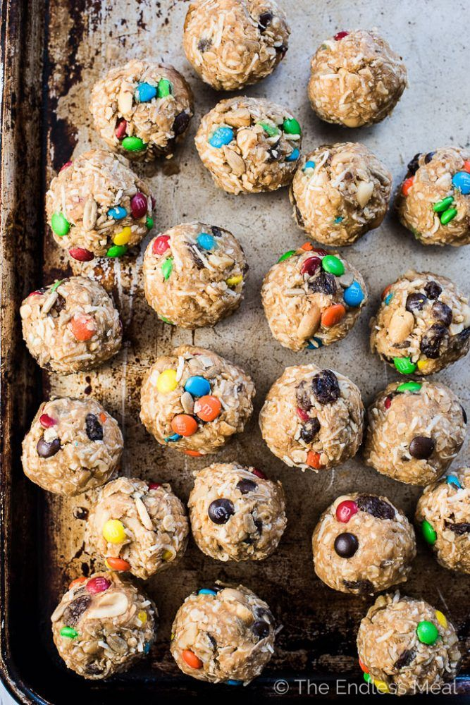 Healthy Trail Mix Protein Bites