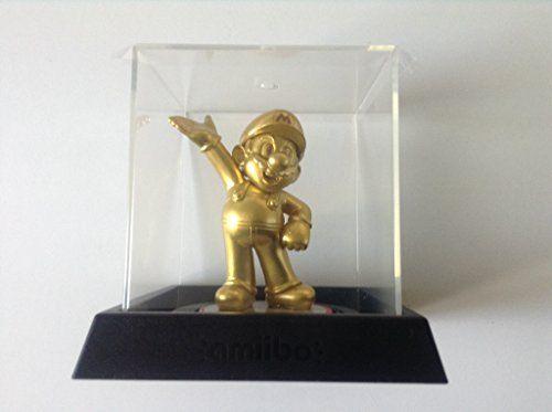Gold Mario amiibo in Nintendo amiibo Display Case @ niftywarehouse.com #NiftyWarehouse #Mario #SuperMario #Nintendo #VideoGames #Gaming #MarioBrothers