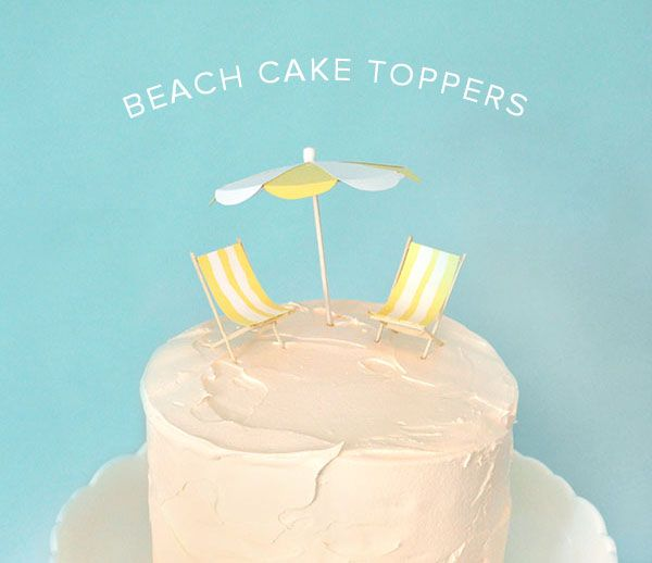 Beach Cake Toppers Oh Happy Day