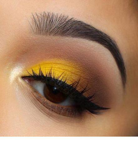 Photo of Gelbes Augen Make-up mit schwarzer Linie  StepUpLadies.net Black Eye Makeup Augen Gelbes Linie