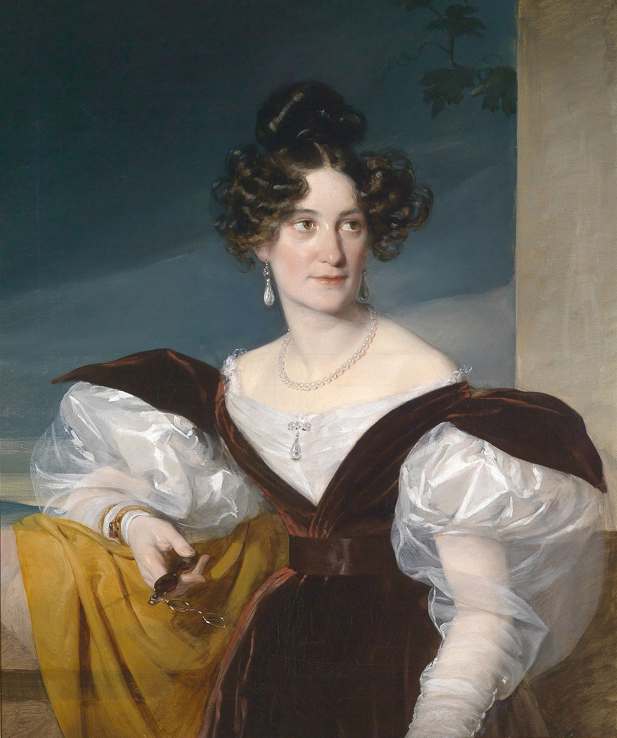 Portrait Of Amalie Klein Nee Von Henikstein Friedrich Von