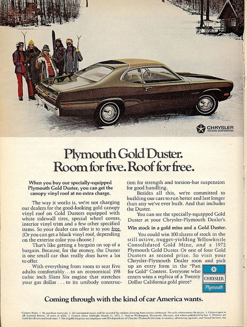 1972 Plymouth Gold Duster Chrysler