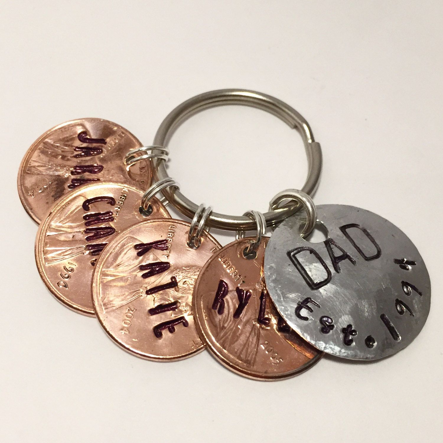Fathers day keychain fathers day gift from daughter father
