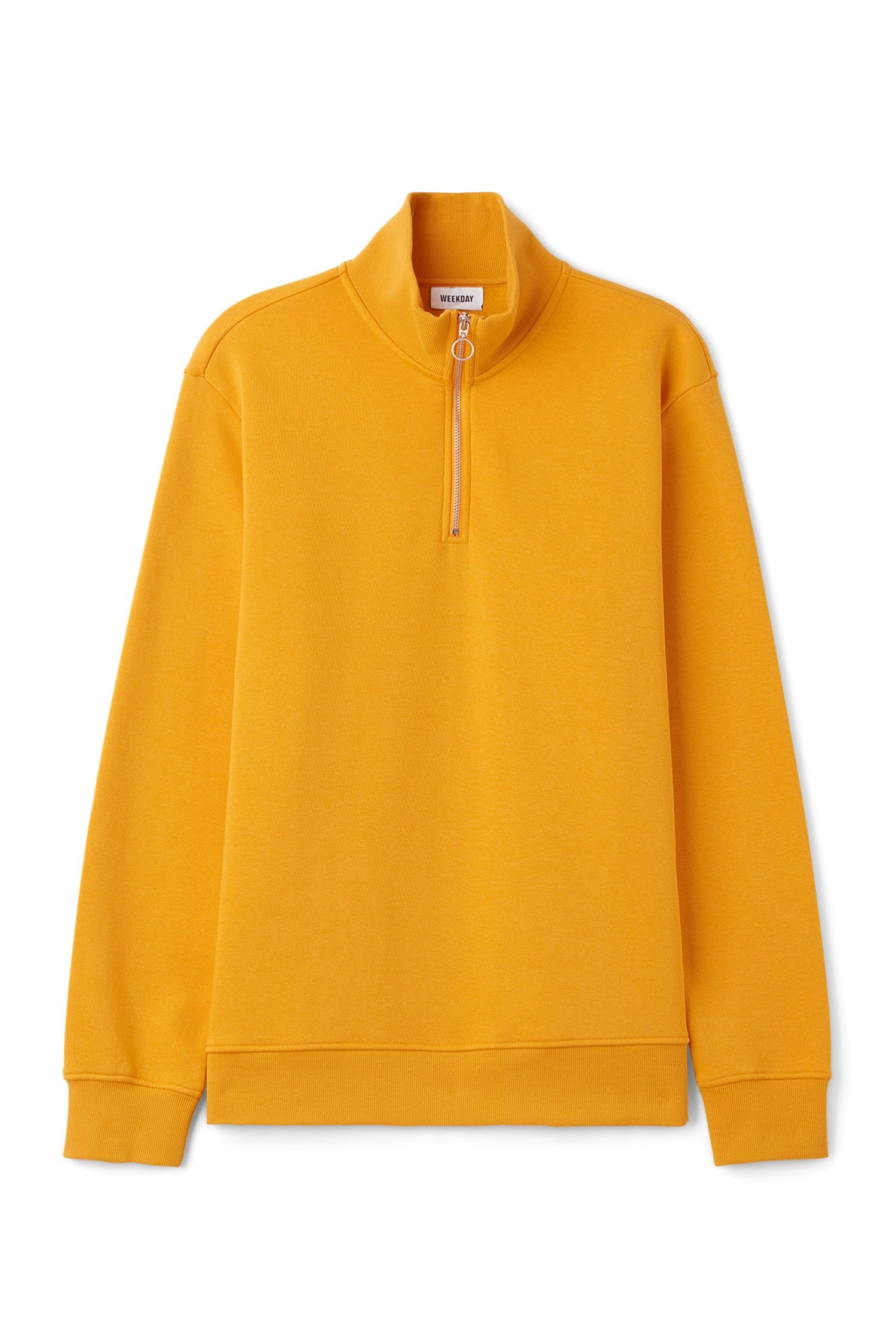 Weekday image 6 of Martin Zip Sweatshirt in Yellow Reddish