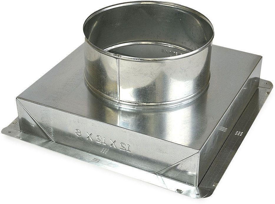 14x 14 X12 In Galvanized Steel Ceiling Register Box Hvac Vent Parts Dust Boot Masterflow Galvanized Steel Flexible Duct Zinc Coating