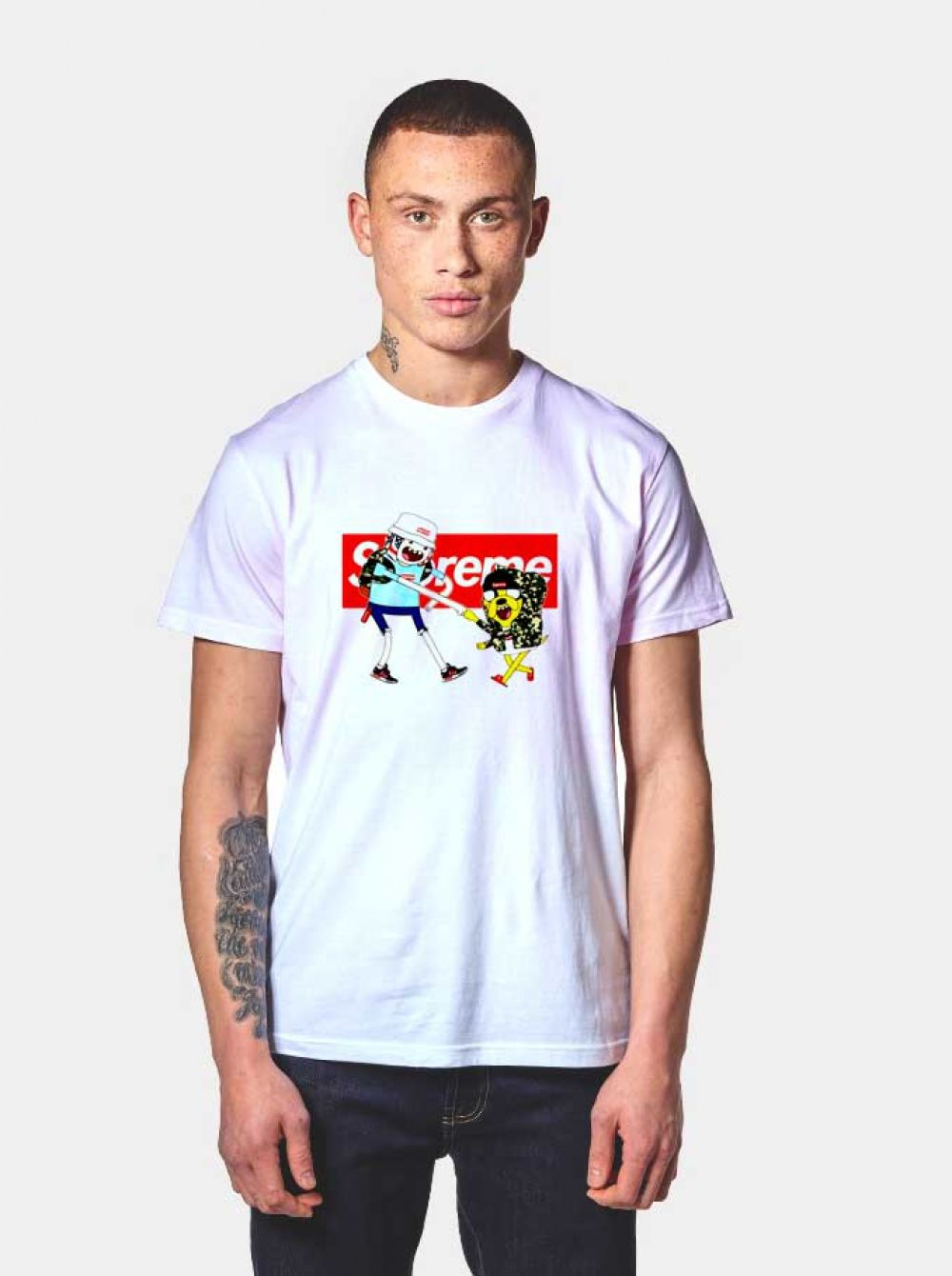 f766e0b3fbe3 Adventure Time Finn & Jake Supreme T Shirt $ 14.50 #Tee #Hype #Outfits  #Outfit #Hypebeast #fashion #shirt #Tees #Tops #Teen