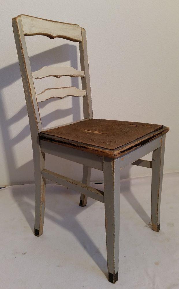 Details zu Küchenstuhl Stuhl weiß Buche Holz alt antik vintage - küchenstuhl weiß holz
