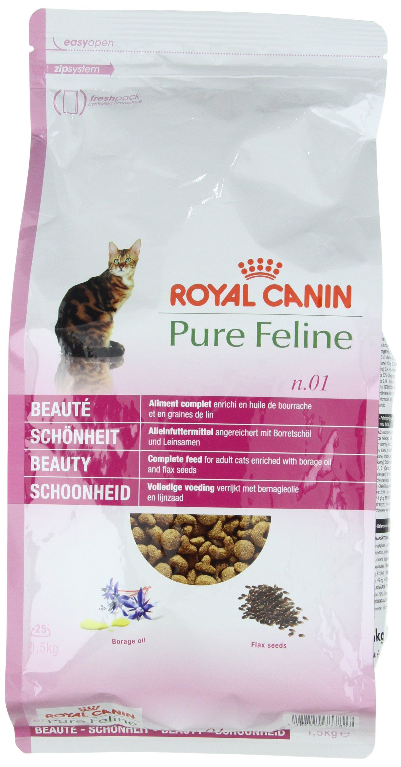 Royal Canin Cat Food Pure No 1 Beauty Dry Mix 1 5kg Want Additional Info Click On The Image This Is An Affiliate Link Catf Cat Food Pure Products Cats