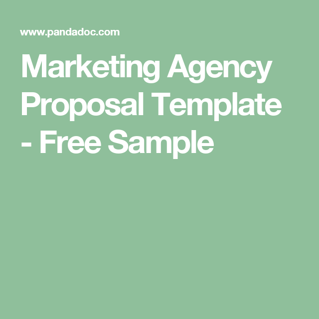 Marketing Agency Proposal Template Free Sample Business Doc