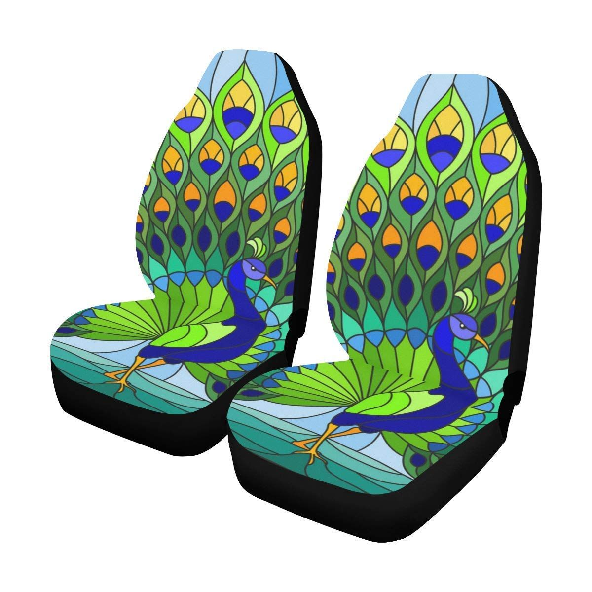 Fabulous Amazon Com Interestprint Stained Glass Peacock Car Seat Caraccident5 Cool Chair Designs And Ideas Caraccident5Info