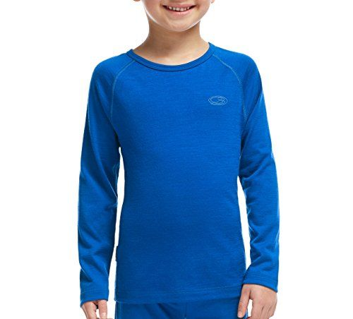 Icebreaker Merino Unisex Kids Kids 200 Oasis Long Sleeve Crewe Base-Layer-Tops