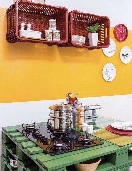 Cozinha com pallets