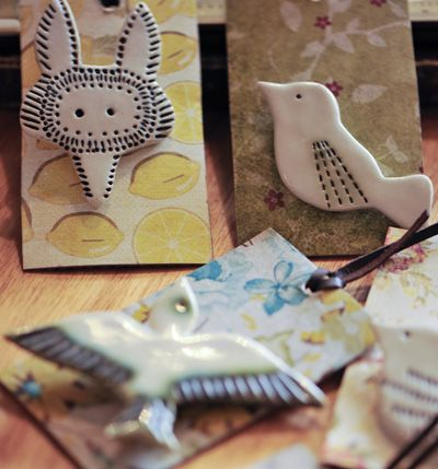 Gorgeous Ceramic brooches