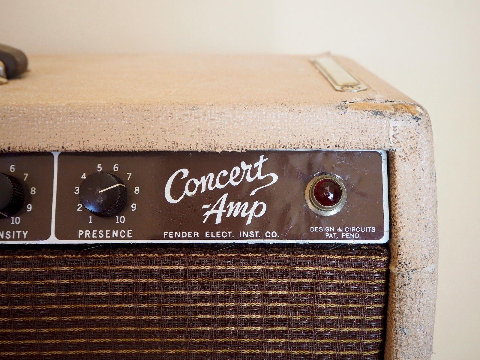 1960 Fender Concert Brownface Pre CBS Vintage Tube Amplifier 4x10 Oxford 10K5