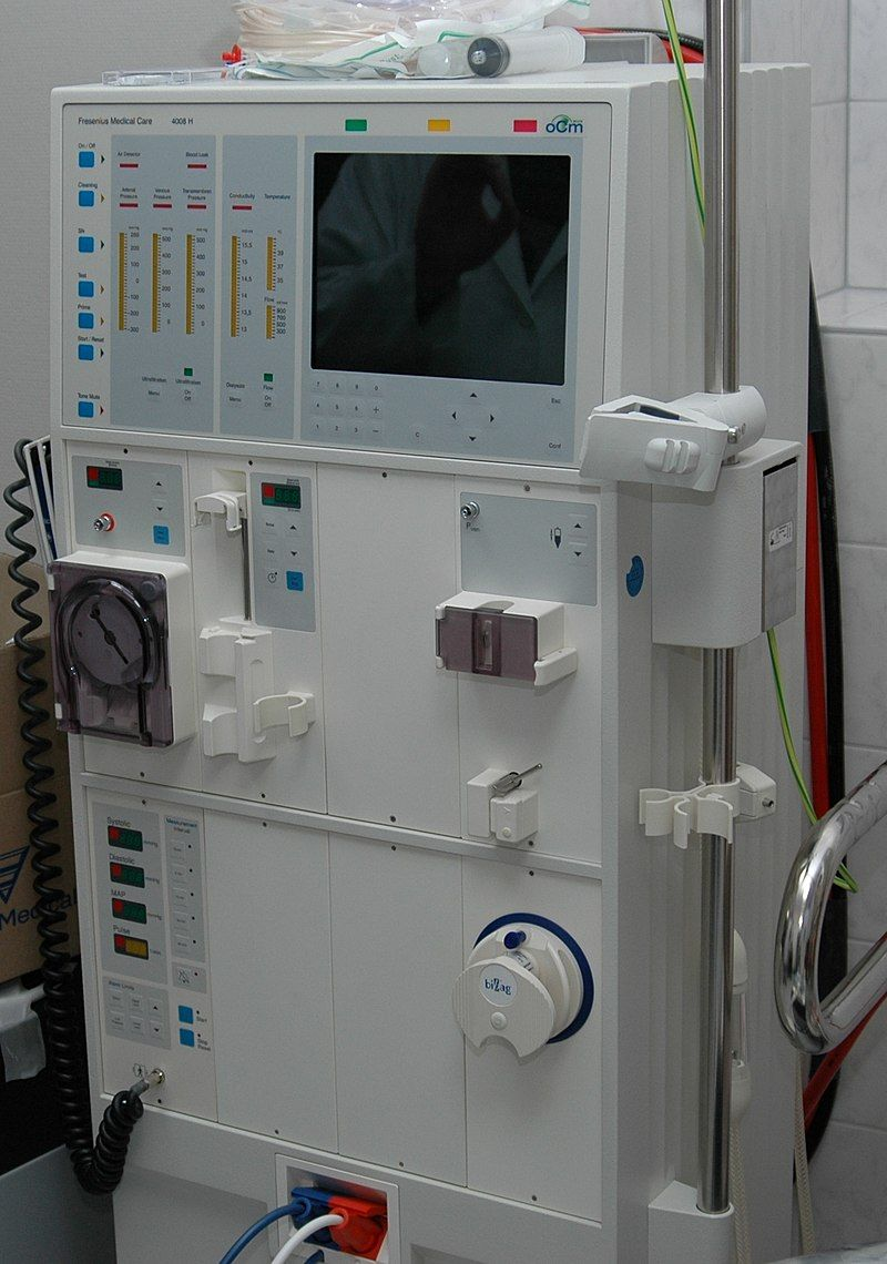 Hemodialysismachine Hemodialysis Wikipedia Dialysis