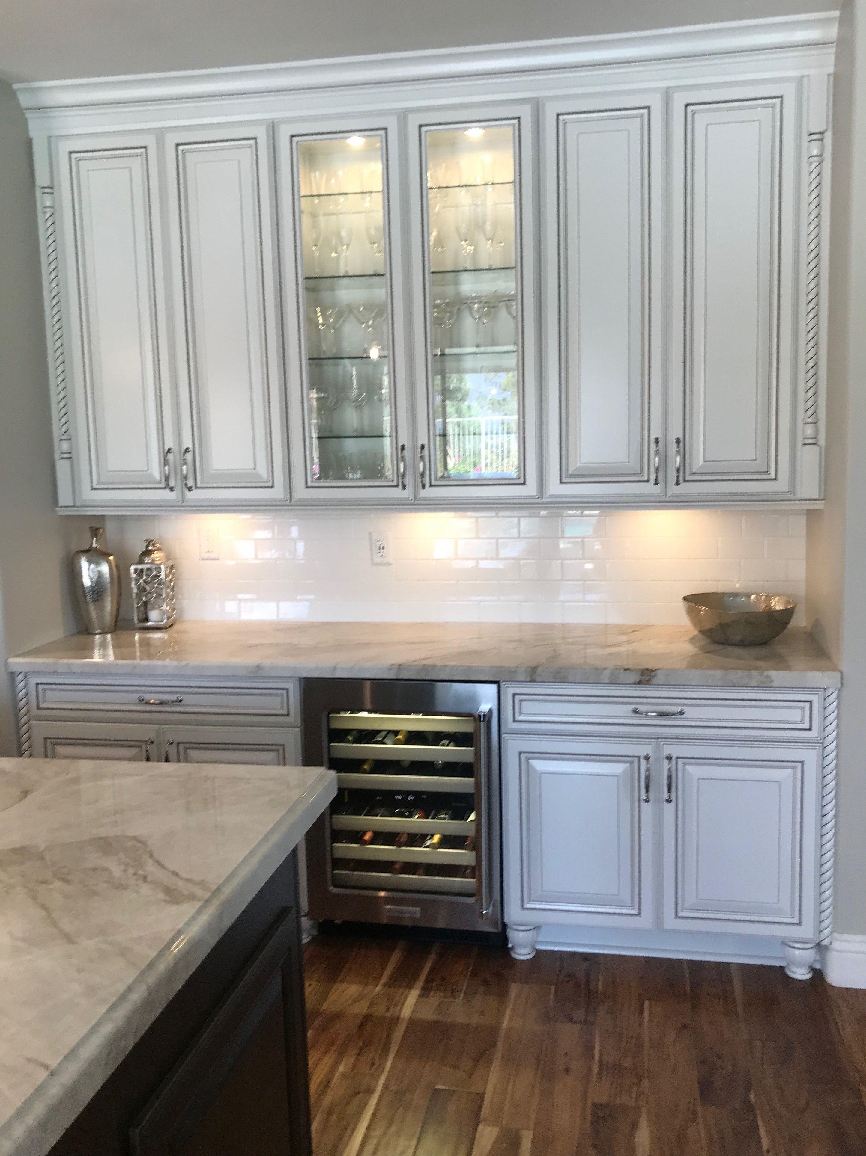 White Black Kitchen Remodel Installing Kitchen Cabinets
