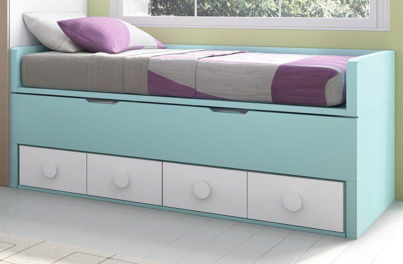 Cama desplazable con las dos camas de 190 x 90 chuler en - Cama de 90 con cajones ...