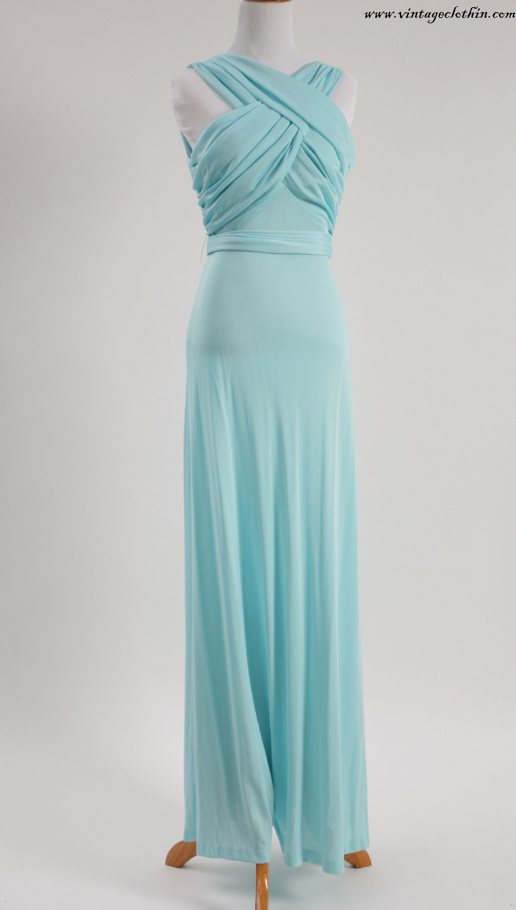SOLD 1960s / 1970s Mary Martin Florida Evening Gown This stunning ...