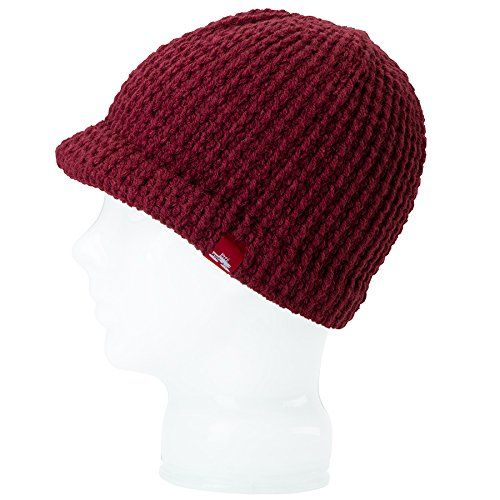 3b9abdcf1c838 Spacecraft Brim Beanie One Size Fits All Dark Red     Click image for more  details.