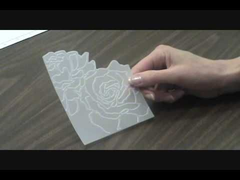 Dry Embossing Vellum With Manhattan Flower Embossing Folder With