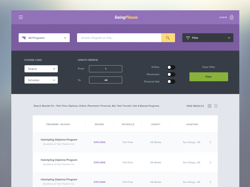 List view | Ui ux, Ux design and Interaction design