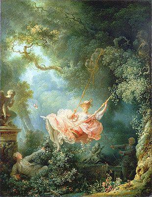 Fragonard (The Swing, 1767) Canvas Art Print Reproduction
