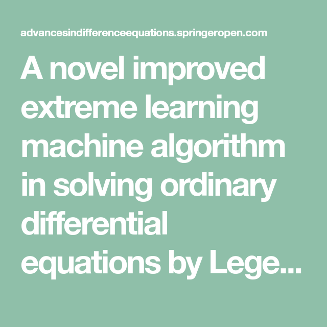 A novel improved extreme learning machine algorithm in