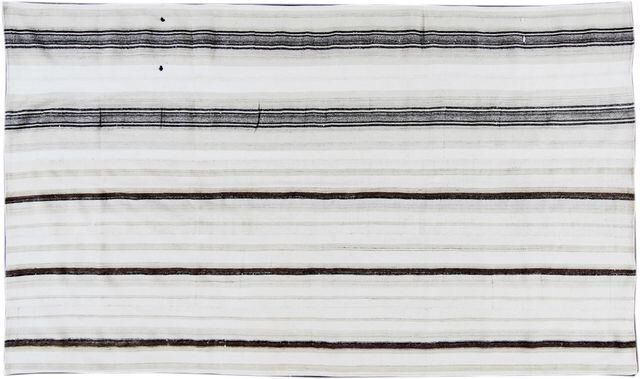 "Gray Stripe Turkish Kilim Rug - 6'3"" x 10'8"" on Chairish.com"